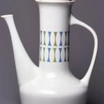 Coffeepot and Lid, Contempri Design, Eclipse Pattern