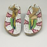 Pair of Beaded Moccasins for a Child