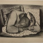 Sleeping Girl, Fatigued Black Woman