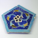 Panel of Mosaic Tile in Arabesque Pattern