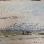 Sketch, Plowing Scene