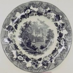Plate, European Scenery Pattern