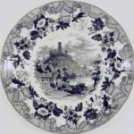 Bowl, European Scenery Pattern