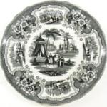 Plate, Palestine Pattern