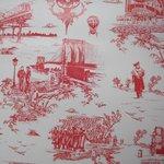 "Wallpaper, ""Brooklyn Toile"" pattern"