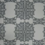 "Wallpaper, ""Eyelets"" Pattern"