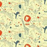 """Wallpaper, """"Circus"""" Pattern"""
