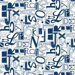 "Wallpaper, ""Whats Your Type?"" Pattern"
