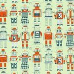 "Wallpaper, ""Robots"" Pattern"