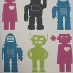 "Wallpaper, ""Robots"" pattern"