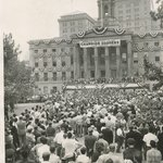 [Untitled] (Brooklyn Dodgers Parade, Borough Hall, Brooklyn)