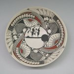 Bowl, Mimbres-Style, with Human Figures