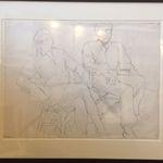 Study for Portrait of Linda Nochlin and Richard Pommer