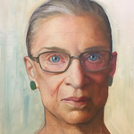 Large Oil Sketch: Associate Justice Ruth Bader Ginsburg