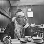 Santa Smoking at Table, Santa Claus