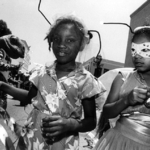 Two Black Girls with Antennae, Santa Barbara
