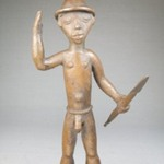 Male Nude with Hat Carrying a Spear