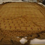 Shamiana (BED COVER?), two patterns, plain flounce