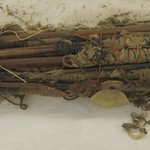 Canes Wound with Cotton and Plaited Grass Necklace or Canes Wrapped with Yarn