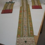 Pair of Temple Hangings with Bat Shaped Head Piece