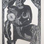 New Years Card of Edith G. Halpert and Berthe K. Goldsmith