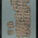 Papyrus Fragments Inscribed with Text Written in Pahlavi