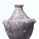 Bottle with Lug Handles and Incised Lines