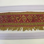 Textile Fragment, unascertainable or Mantle, Border, Fragment