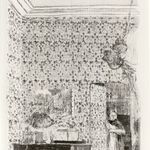 Interior with Pink Wallpaper II (Intérieur aux tentures roses II)