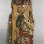 Cartonnage Fragment with Goddess Seshat
