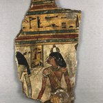 Cartonnage Fragment with the Deceased