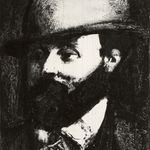 Head of a Man with a Hat, Facing Left