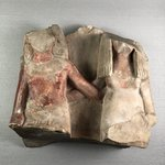 Fragmentary Group of a Man and Wife Seated
