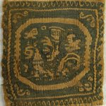 Square Fragment with Figural, Animal, and Botanical Decoration