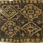 Square Fragment with Floral and Geometric Decoration