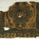 Square Fragment with Animal and Botanical Decoration
