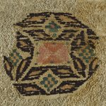 Roundel Fragment with Botanical and Geometric Decoration