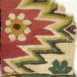 Fragment with Botanical and Geometric Decoration