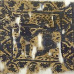 Square Fragment with Figural and Floral Decoration