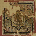 Square Textile with Europa and the Bull