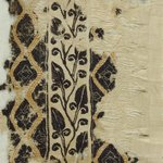 Band Fragment with Botanical and Geometric Decoration