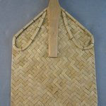 Rectangular Raffia Fan