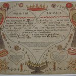 Pennsylvania-Dutch Birth Certificate for Matthew Linkzenbigler