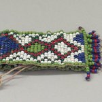 One of a Pair of Tiny, Woven, Beaded Bracelets