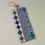 Woven Beadwork Strip with Diamond Pattern
