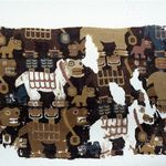Textile Fragment with Birthing Llamas