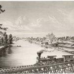 Watertown, Wisconsin, from Milwaukee and Western Railroad Bridge