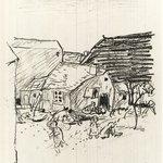 """Landscape. Illustration for """"La Vie de Sainte Monique"""""""