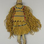 Stuffed Doll with Two-piece Dress, Boots and Beaded Barette