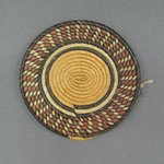 Flat Coiled Basketry Cover for a Pot